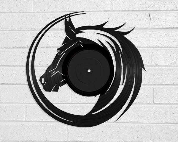 Stallion Vinyl Record Art Vinyl Revamp - Vinyl Record Art