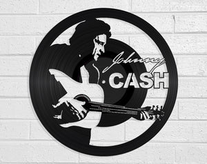 Johnny Cash Vinyl Record Art Vinyl Revamp - Vinyl Record Art