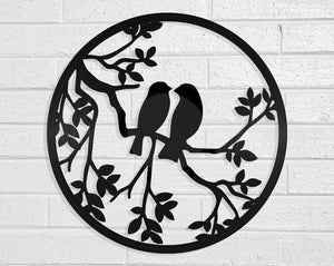 Love Birds Vinyl Record Art Vinyl Revamp - Vinyl Record Art