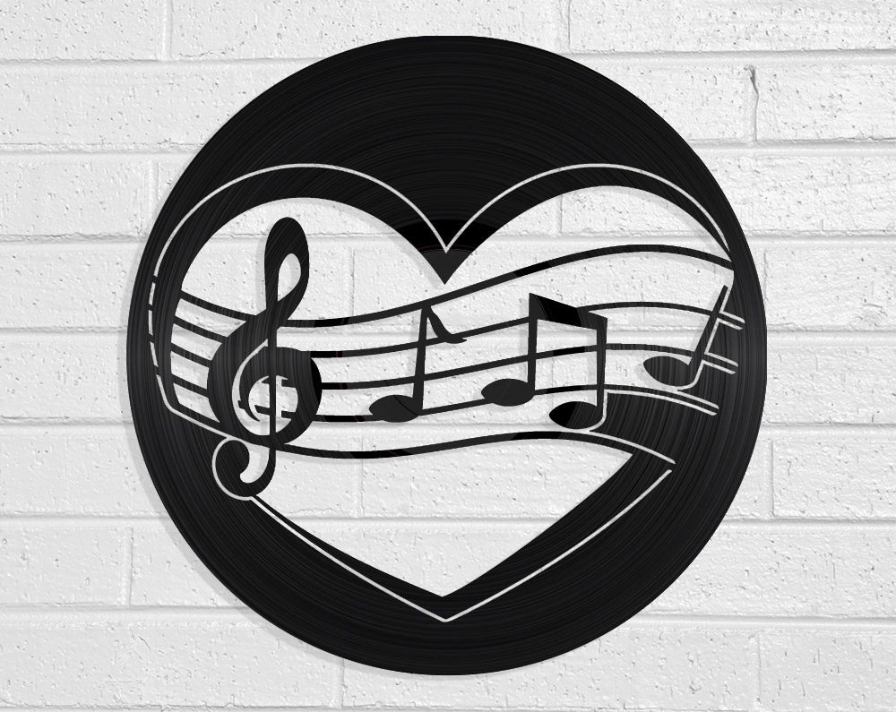 Love Music Vinyl Record Art Vinyl Revamp - Vinyl Record Art