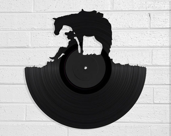 Man and Horse Vinyl Record Art Vinyl Revamp - Vinyl Record Art