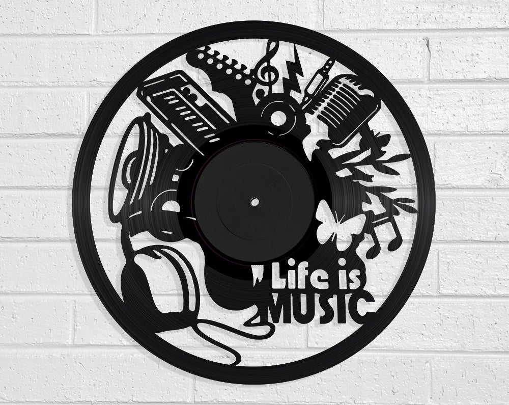 Life Is Music Vinyl Record Art Vinyl Revamp - Vinyl Record Art