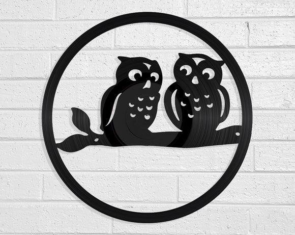 Owls Vinyl Record Art Vinyl Revamp - Vinyl Record Art