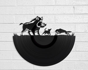 Pig Hunt Vinyl Record Art Vinyl Revamp - Vinyl Record Art