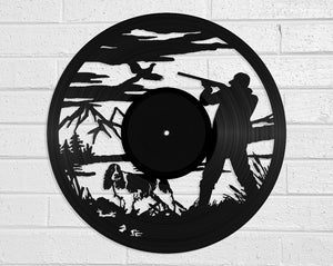 Pheasant Hunter Vinyl Record Art Vinyl Revamp - Vinyl Record Art