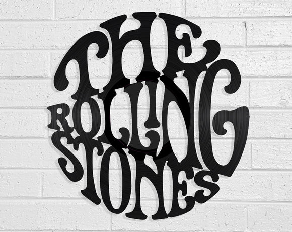 The Rolling Stones Vinyl Record Art Vinyl Revamp - Vinyl Record Art