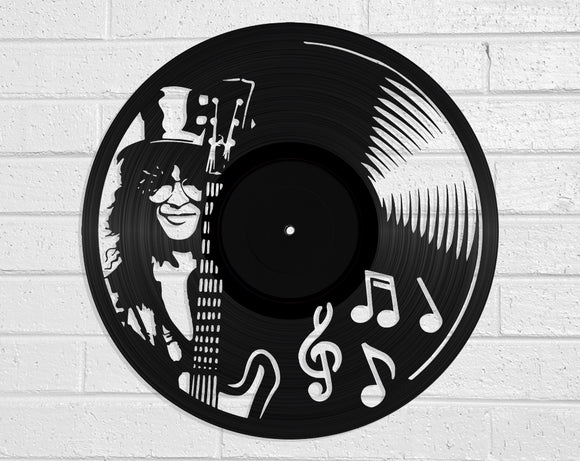 Slash Vinyl Record Art Vinyl Revamp - Vinyl Record Art