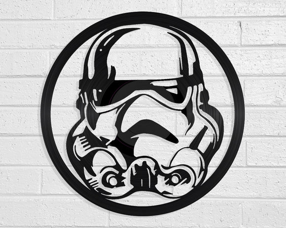 Star Wars Storm Trooper Vinyl Record Art Vinyl Revamp - Vinyl Record Art