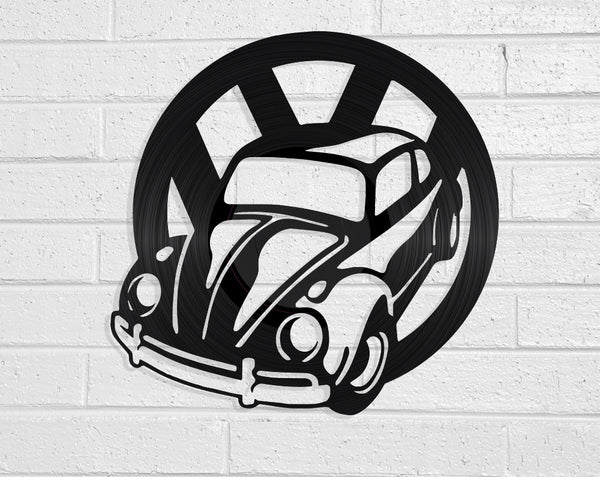 VW Beetle Vinyl Record Art Vinyl Revamp - Vinyl Record Art