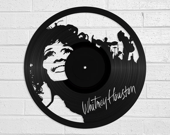 Whitney Houston Vinyl Record Art Vinyl Revamp - Vinyl Record Art