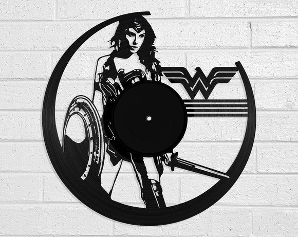 Wonder Woman Vinyl Record Art Vinyl Revamp - Vinyl Record Art