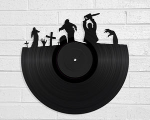 Zombies Vinyl Record Art Vinyl Revamp - Vinyl Record Art
