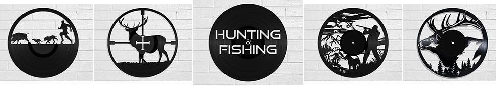 hunting and fishing vinyl record art