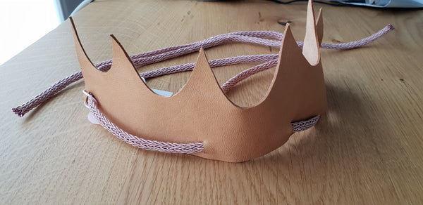 Gold Frankincense Myrrh Leather Crown