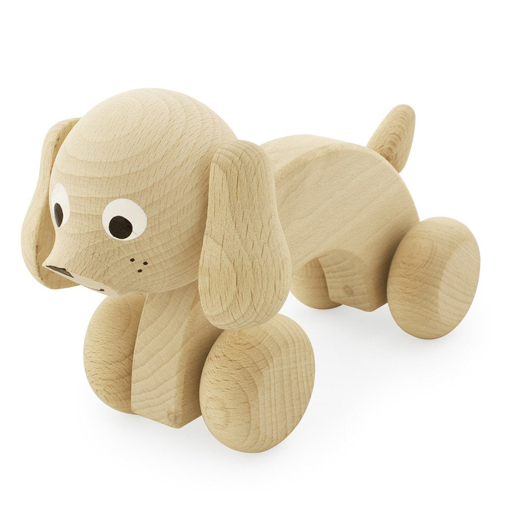 Wooden Push Along Dog