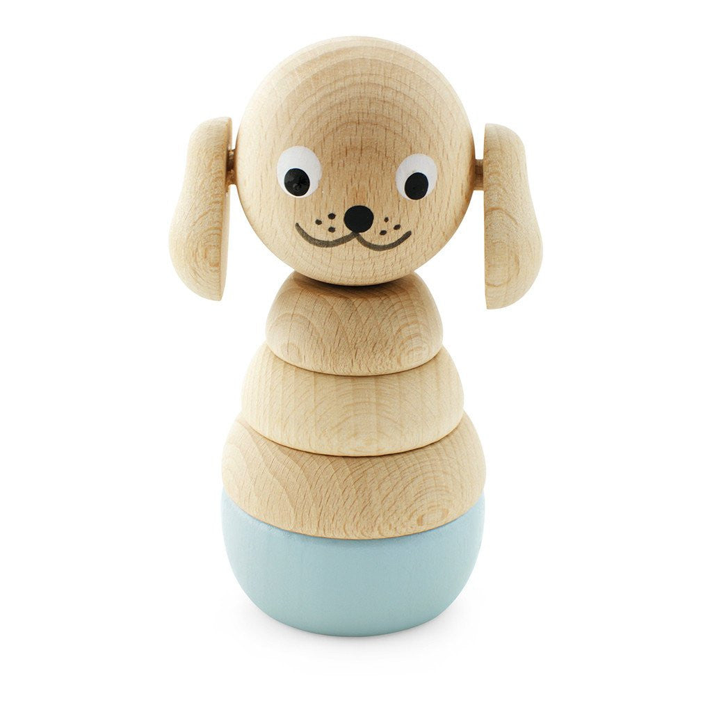 Wooden Stacking Toy Dog Blue