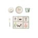 Love Mae Fox and Friends 5 Piece Bamboo Dinnerware