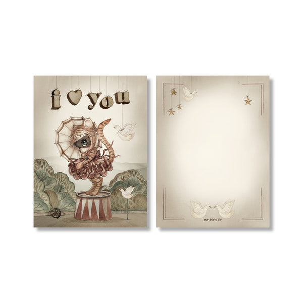 Mrs. Mighetto ~ 2-Pack MOON LOVE cards ~ My Tiny Theatre