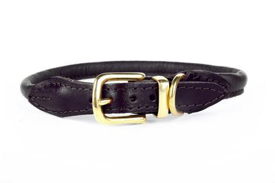 NIce Digs ~ Stevie Rolled Nappa Leather Collar ~ Black ~ Medium
