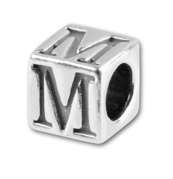 Sterling Silver Letter Blocks (for Aniia Rosaries/Bracelets)