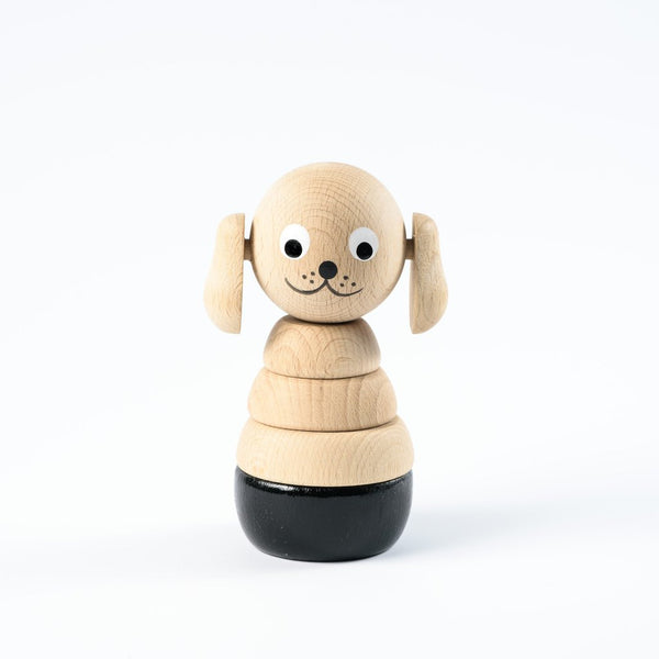 Sarah and Bendrix Wooden Dog Stacking Toy