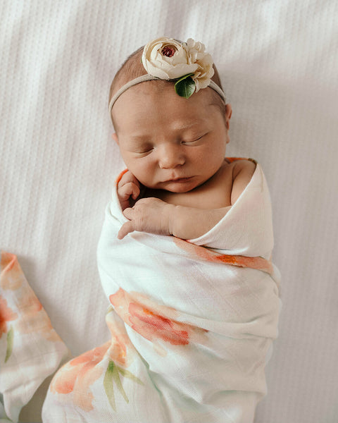 Snuggle Hunny Kids ~ Organic Muslin Wrap ~ Sorbet Bloom
