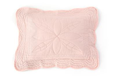 Cot Quilt and Pillow Set Shell Pink