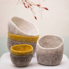 Muskhane Plain Felt Bowl ~ Small