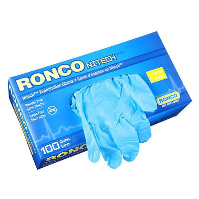 Blue Nitrate Disposable Gloves Ronco