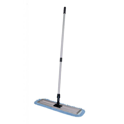 Telescoping Microfibre Flat Mop Handle