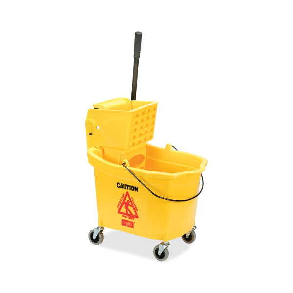 Yellow Mop Bucket with Wringer