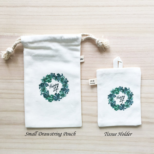 11-15 Small Drawstring Pouch and Tissue Holder