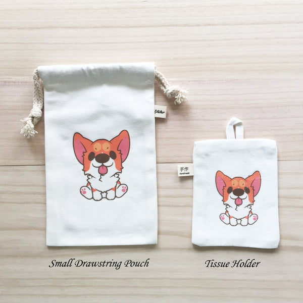 36-40 Small Drawstring Pouch and Tissue Holder