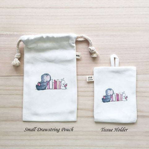 91-95 Small Drawstring Pouch and Tissue Holder