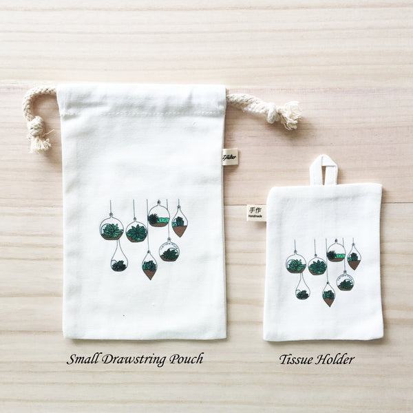 6-10  Small Drawstring Pouch and Tissue Holder