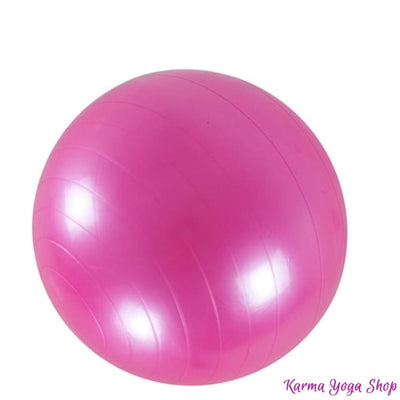 Ballon de Yoga Gonflable Rose 65 cm Balle de Yoga