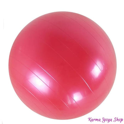 Ballon de Yoga Gonflable Rouge 65 cm Balle de Yoga