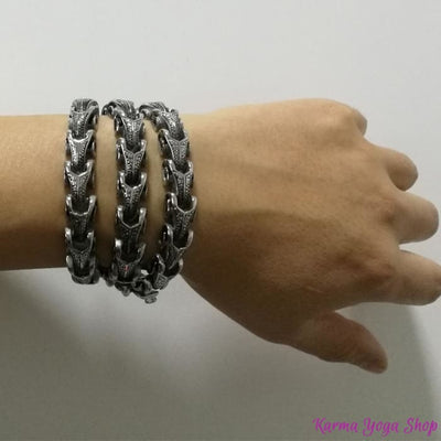 Bracelet/Collier Dragon en Acier Inoxydable Bracelet