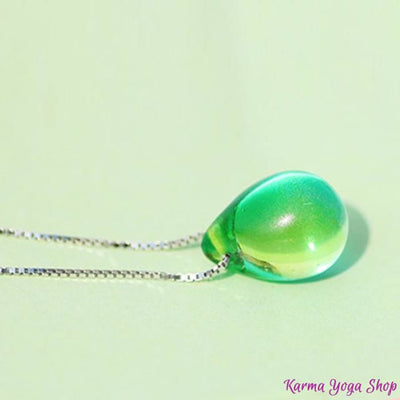 Collier Goutte dOcéan - 8 couleurs disponibles Vert Collier