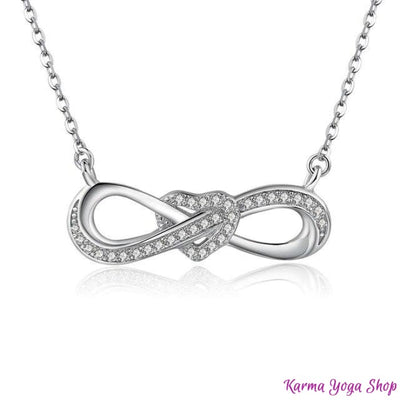 Collier Message de lUnivers en Argent 925 Amour Infini Collier