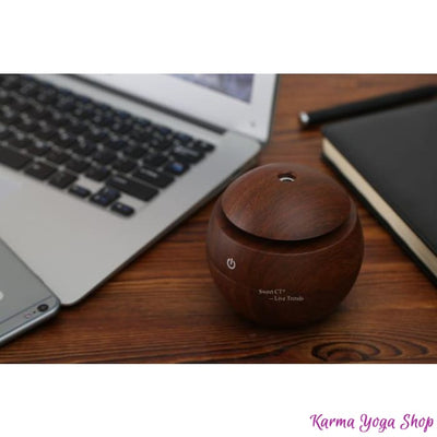 Humidificateur Portable Zen à Ultrason - 4 modèles disponibles Boule Equateur Marron Diffuseur