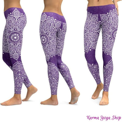 Leggings Mandala et Vibration des Couleurs - 14 couleurs disponibles Leggings