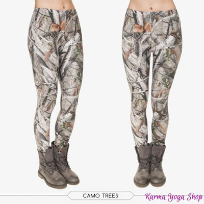 Leggings Nature - 7 styles disponibles - Taille unique Camo Trees Legging