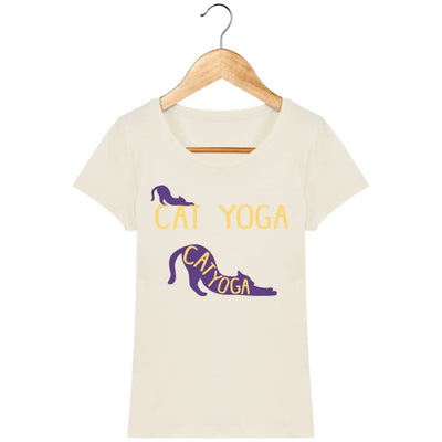 T-shirt Femme Cat Yoga Natural / XS T-Shirts