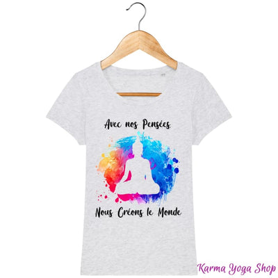 T-Shirt Femme Créons le monde Heather Ash / XS T-Shirts