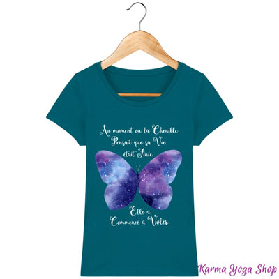 T-Shirt Femme Transformation du Papillon Ocean Depth / XS T-Shirts