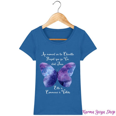 T-Shirt Femme Transformation du Papillon Royal Blue / XS T-Shirts