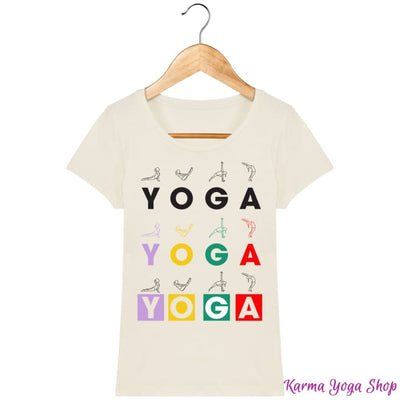 T-shirt Femme Yoga Asanas Natural / XS T-Shirts