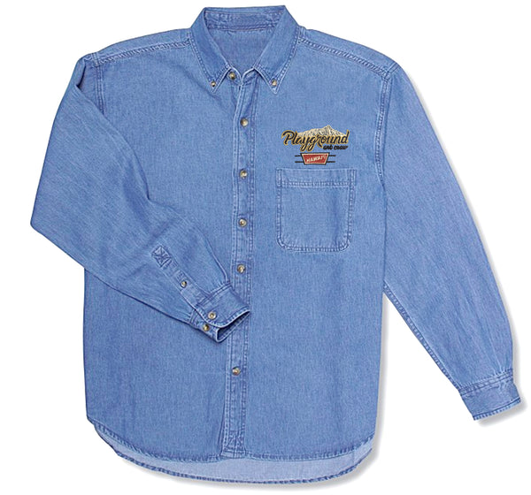 Banquet Button-Up Shirt (Denim)