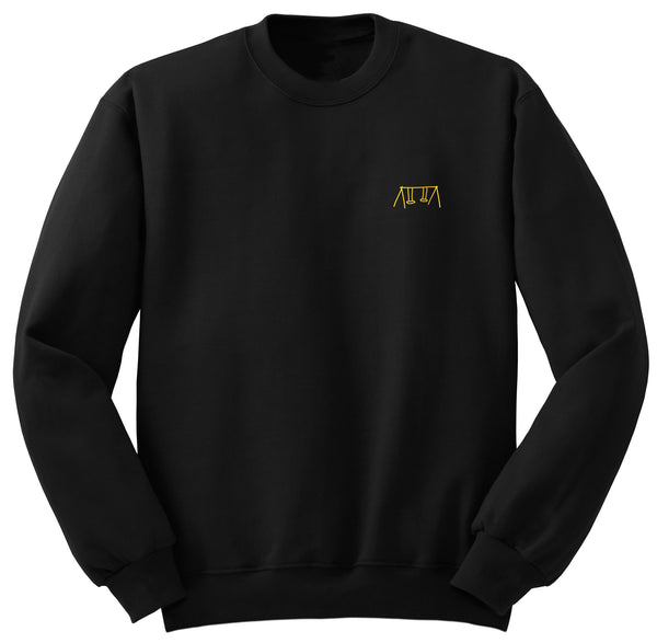 Swings Crew Neck Sweater (Black)